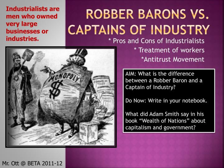 Captains of industry essay