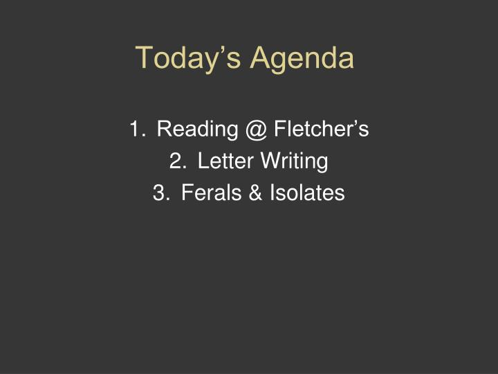 PPT - Today's Agenda PowerPoint Presentation - ID:1889823