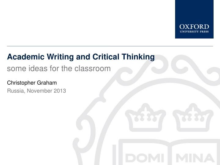 How can you use critical thinking in other areas