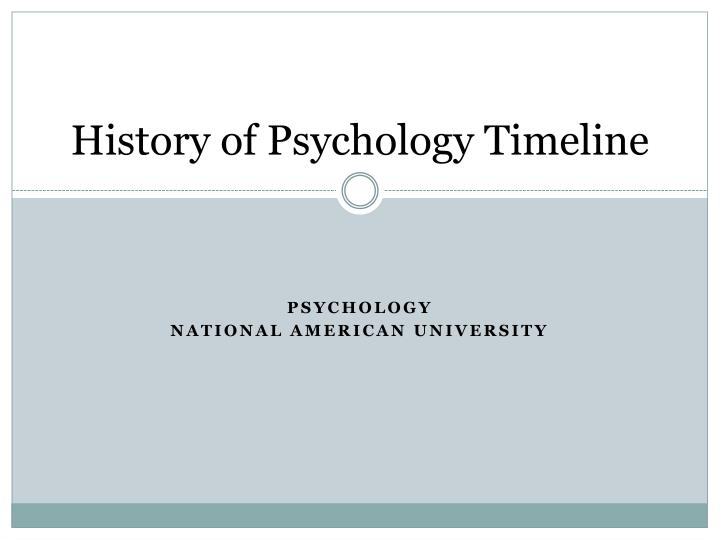 Psychology history subjects in college