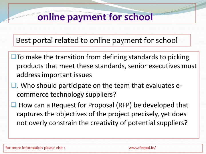 PPT - Best portal for online payment for school PowerPoint