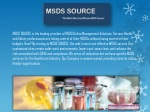 MSDS Company - Online MSDS Services
