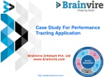 Case Study For Performance Tracting Application