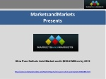 Ultra Pure Sulfuric Acid Market worth $290.2 Million by 2019