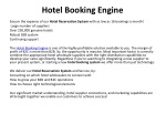 Hotel Booking Engine, Hotel Booking System