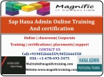Sap Hana Admin Online Training And certification