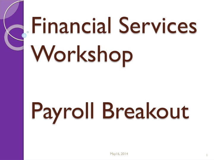financial services workshop payroll breakout n.