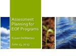 Assessment Planning for EOF Programs Susan DeMatteo