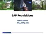 SAP Requisitions Requisitioner   MM_REQ_300