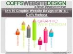 Top 10 Graphic Website Design of 2014 – Coffs Harbour