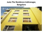 Book Justa The Residence Indiranaga in Bangalore