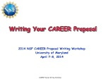 Writing Your CAREER Proposal