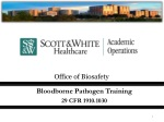 Bloodborne Pathogen Training  29 CFR 1910.1030