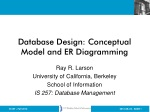 Database Design: Conceptual Model and ER Diagramming