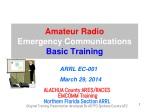 Amateur Radio Emergency Communications Basic Training