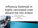 Influenza Outbreak in highly vaccinated crew aboard the USS Ardent
