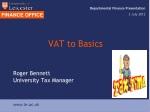 VAT to Basics