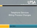 Telephone Services Billing Process Changes