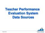 Teacher Performance Evaluation System Data Sources