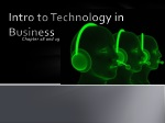 Intro to Technology in Business