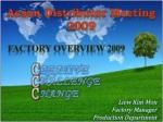 Acson Distributor Meeting 2009