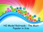 HO Model Railroads