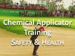 Chemical Applicator Training Safety  & Health