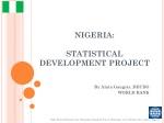 NIGERIA: STATISTICAL DEVELOPMENT PROJECT