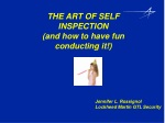THE ART OF SELF INSPECTION (and how to have fun conducting it!)