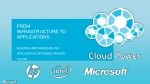 From infrastructure to applications building and managing an application optimised private cloud