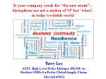 Terry Lee APEC High Level Policy Dialogue (HLPD) on Resilient SMEs for Better Global Supply Chains