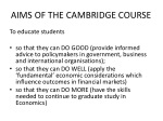 AIMS OF THE CAMBRIDGE COURSE