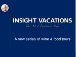A new series of wine & food tours