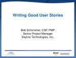 Writing Good User Stories