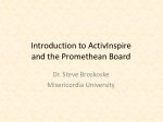 Introduction to ActivInspire and the Promethean Board