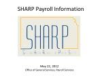 SHARP Payroll Information