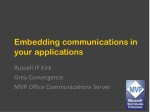 Embedding communications  i n your applications