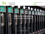 Service Computing – Grid  Resource  Management