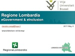 Regione Lombardia eGovernment & eInclusion