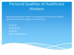 Personal Qualities of Healthcare Workers
