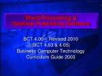 Word Processing &  Desktop Publishing Software