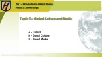 Topic 7 – Global Culture and Media