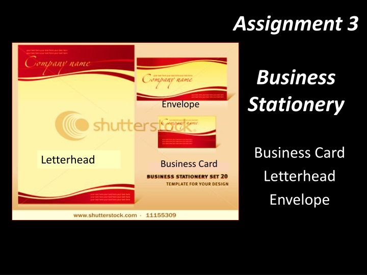 assignment 3 business stationery n.