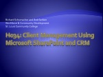 H034: Client Management Using Microsoft SharePoint and CRM
