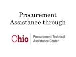 Procurement Assistance through