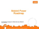 Mobinil Power Roadmap