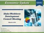 Idaho Workforce Development Council Meeting March 6, 2013