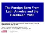 National Council of Hispanic Employment Program Managers Meeting Washington, DC, June 20, 2012 Yesenia D. Acosta, Foreig