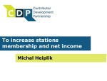 To increase stations membership and net income