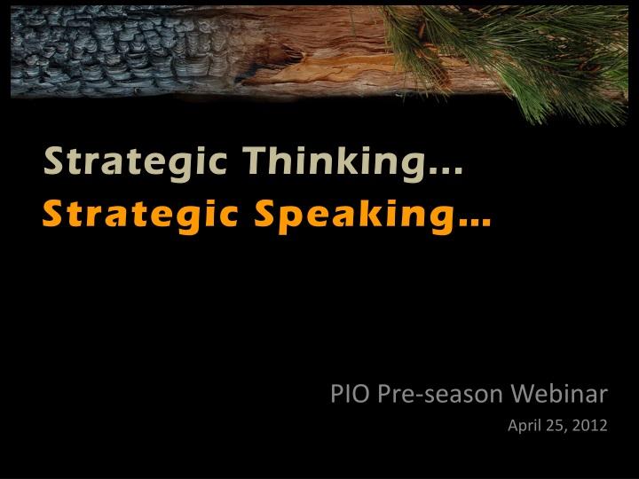 pio pre season webinar april 25 2012 n.